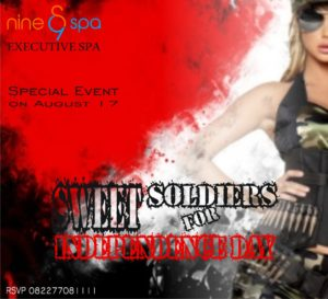 Event Tematik - SWEET SOLDIER - Nine Spa Samarinda - Executive Spa & Massage Treatments in Samarinda - www.nine-spa.com